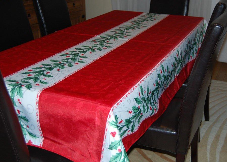 Nappes de no l mettez de la couleur sur vos tables at for Nappe pour grande table